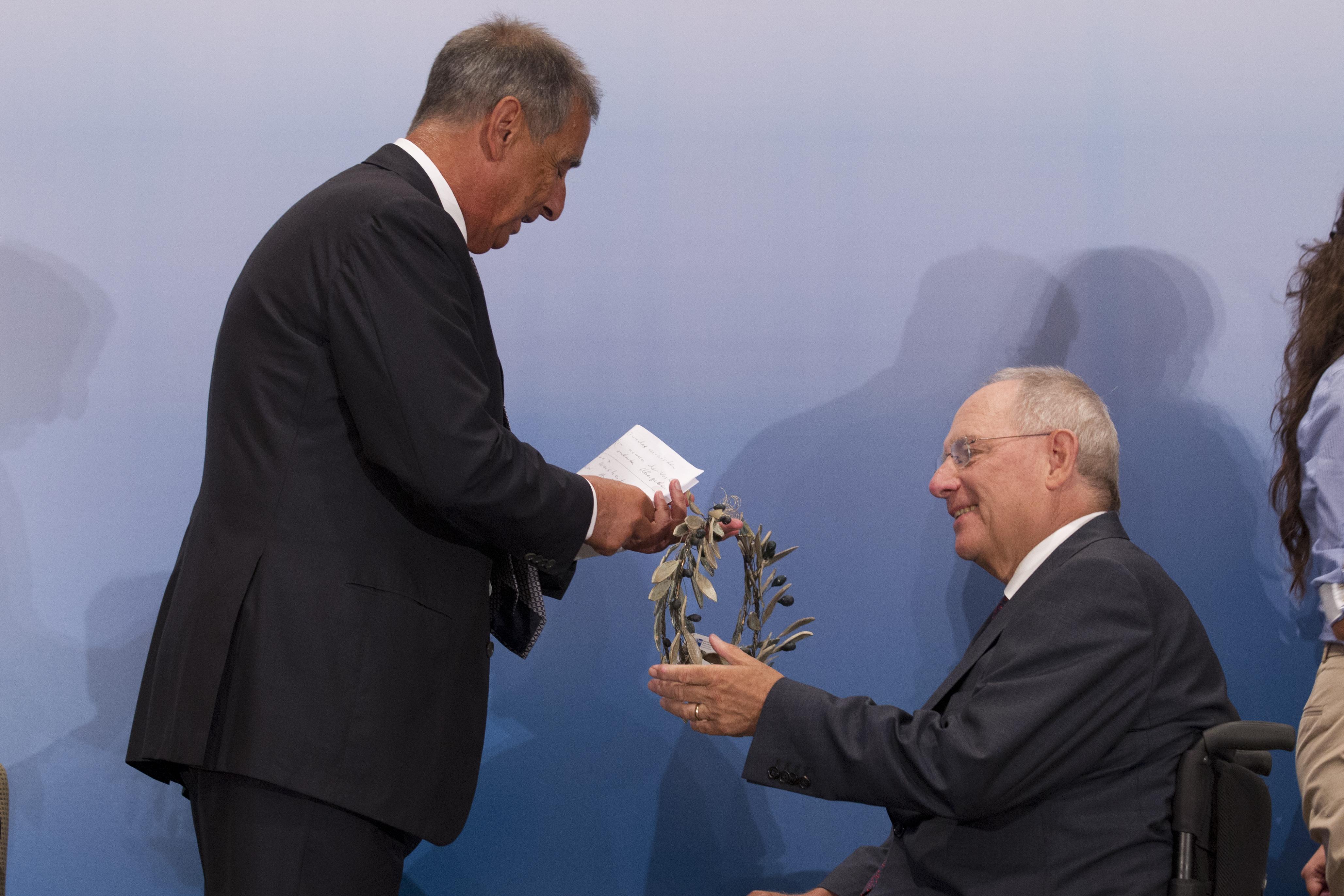 Veranstaltung der AHK Griechenland mit dem Bundesfinanzminister Dr. Wolfgang Schäuble am 18.7.2013 in Athen